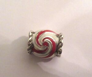 Brighton-Peppermint-Candy-Spacer-Charm-red-white-silver-heart-Christmas