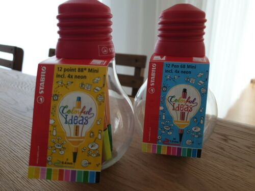 Mini Colorful Ideas 2er Set Premium-Filzstift STABILO Pen 68 und 88
