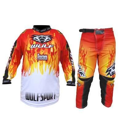 Dettagli su Bambini Wulfsport MX Motocross Tuta Casco Stivali Guanti Occhiali Verde Set #XO1