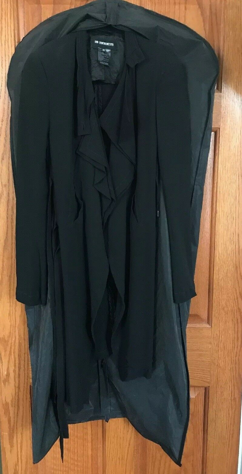 Vintage Ann Demeulemeester 100% Silk Double Lined… - image 12