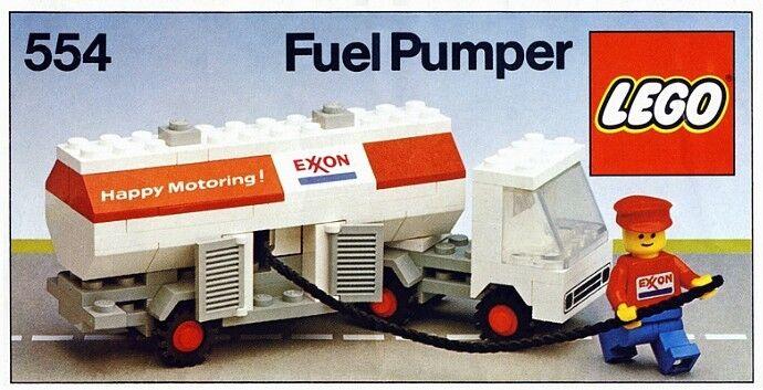 Lego Klassisch Stadt Gas Station 554 Exxon Benzin Stoßstange Neu Ovp
