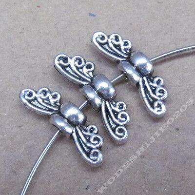 30pc Bee Angel wings Spacer Beads Accessories Bead Findings Tibetan Silver SA227