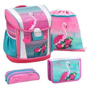 Belmil-Schulranzen-Set-Customize-Me-4-tlg-Erstklaessler-Einschulung-Pink-Flamingo