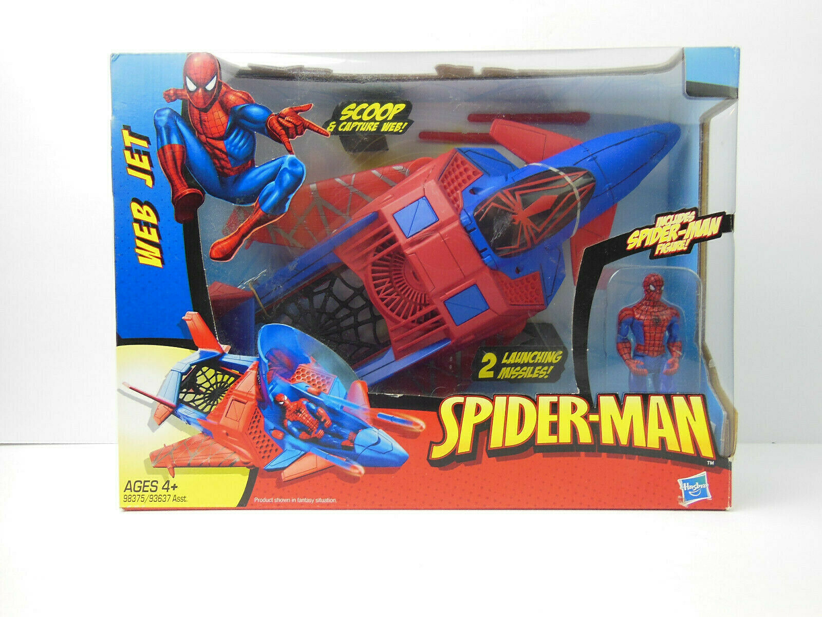 Hombre Araña Web Jet con 4  Figura de Spiderman (nuevo En Caja) 2009 súperhéroe Marvel