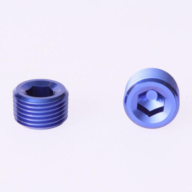 """Blue 1/8"""" NPT Socket Plug Aluminum NPT Pipe Thread Allen Socket Plug"""