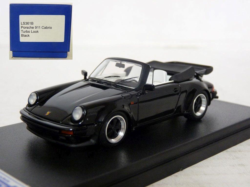 LOOKSMART LS361B 1 43 1986 PORSCHE 911 TURBO CABRIOLET Handmade Résine Voiture Modèle