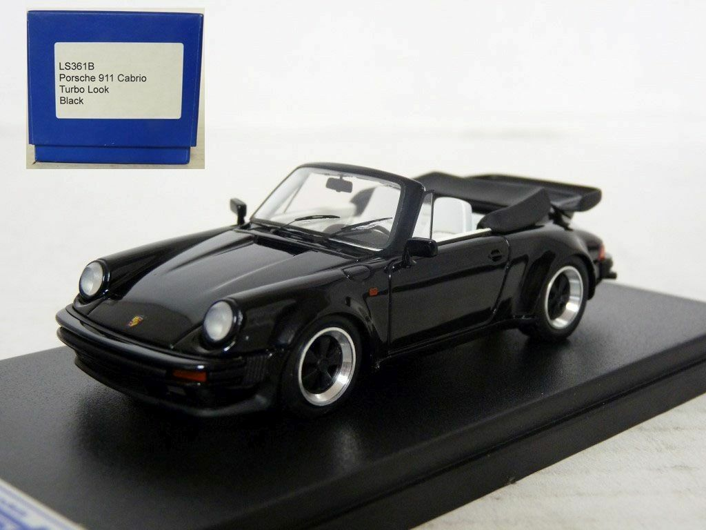 Looksmkonst LS361B 1 43 1986 Porsche 911 Turbo Cabriolet Handmade Resin Model Bil