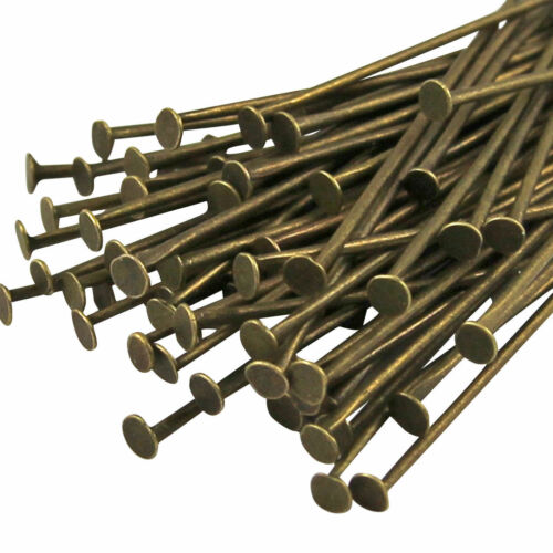 20gms Assorted Heapins in Antique Bronze over 100 Headpins