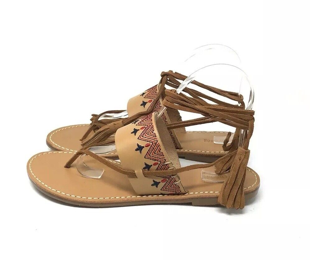 NIB Soludos Lace Up Sandals Women's Size 8