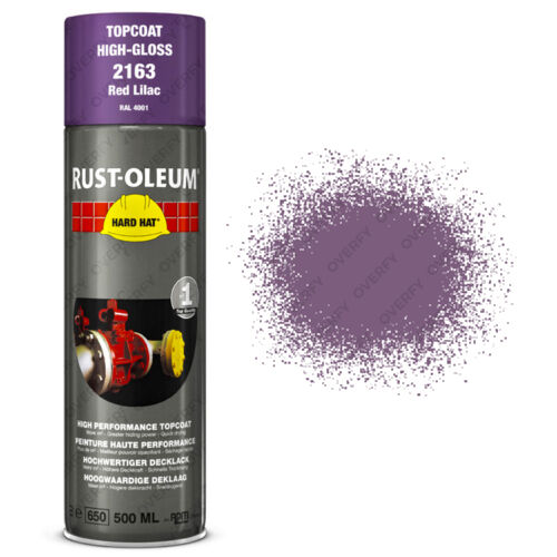 x12 Industrial RustOleum Red Lilac Aerosol Spray Paint Hard Hat 500ml RAL 4001