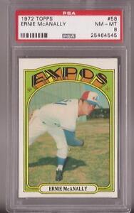 1972-Topps-58-Ernie-McAnally-Expos-graded-PSA-8-NM-MT
