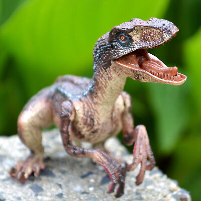 Velociraptor Realistic Raptor Dinosaur Toy Moveable Jaw Arms Best Gift for Kids