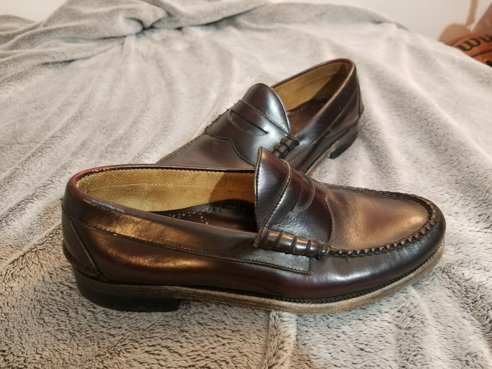 JOHNSTON & MURPHY $135 Pannell 8 Penny Loafer Burgundy Size 8 Pannell fae145