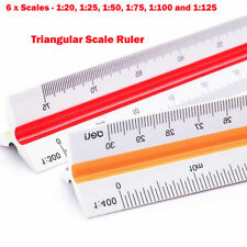 2 Stk Dreikant Maßstab Lineal Aluminium Skalierung dreieckig Scale Ruler
