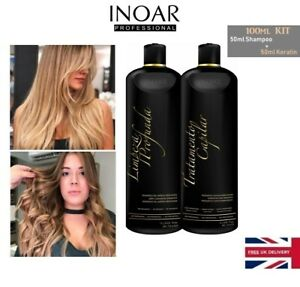 Inoar Official Moroccan Brazilian Keratin Blow Dry Hair Treatment 100ml Kit Ebay