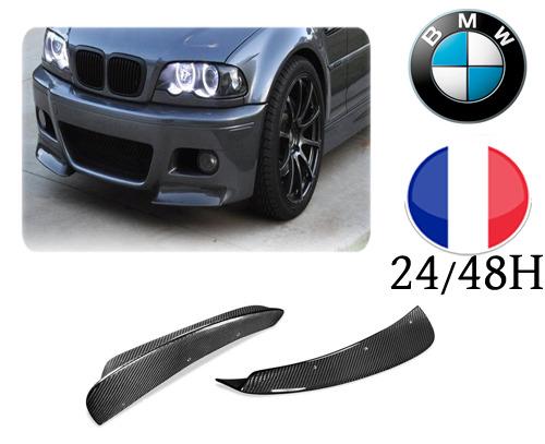 Flaps Lame Splitter Carbone Véritable Pare Choc BMW E46 Serie 3  Style M3