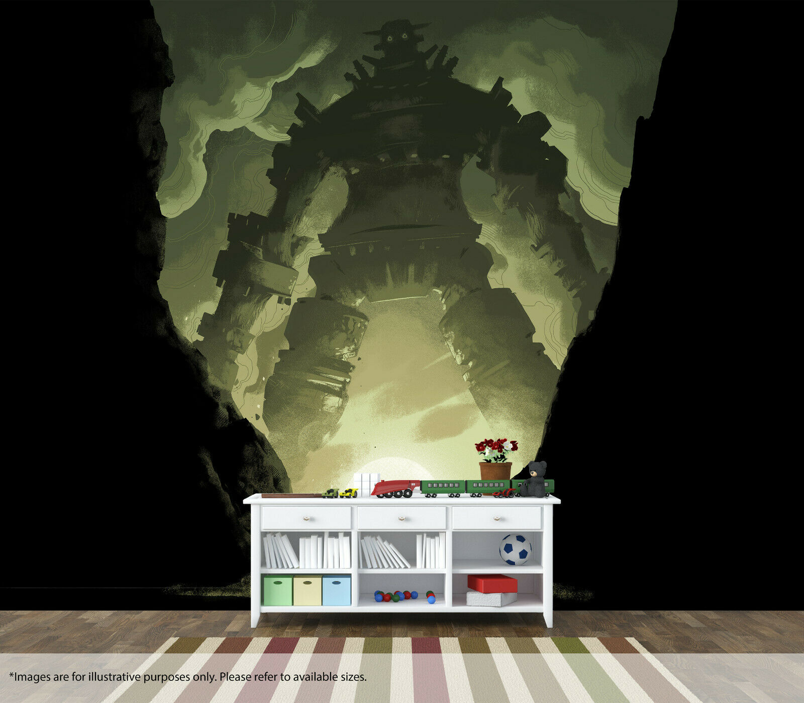 Shadow Of The Colossus Game Art Wall Mural Quality Pastable Wallpaper Decal