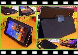 Flip-Tasche-Stand-Etui-Cover-Case-Schutzhuelle-Samsung-P6800-Galaxy-Tab-7-7-Folie