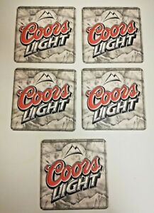 Coors-Lite-Mountains-Logo-Beer-Brewery-Double-Side-Coasters-5-Pack