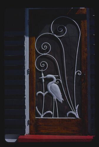 ,heron screen door for above cabin,Route 17,Yulee,Florida Stevens Motel 1940