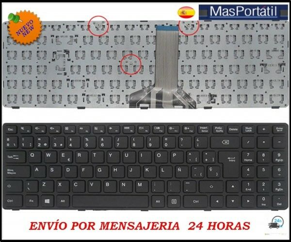 New spanish keyboard laptop lenovo ideapad 100