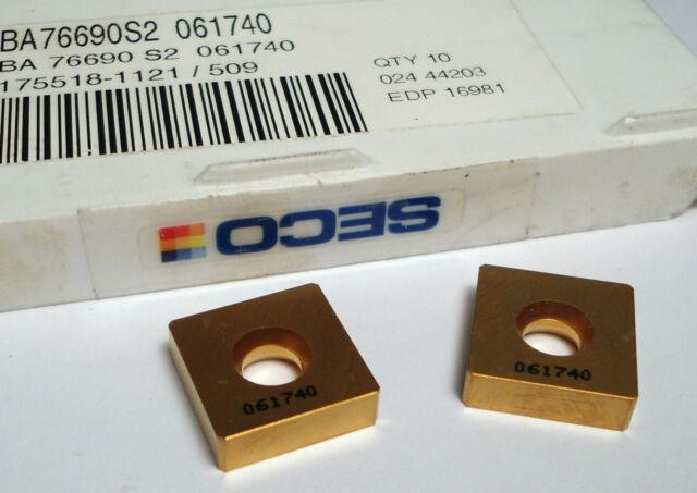 SECO Carbide Insert BA 76690-S2 061740 (2 Pcs)
