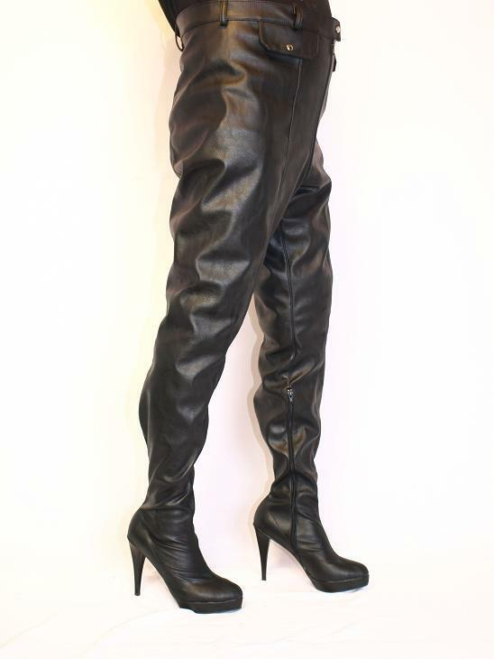IMITATION OF LEATHER 5-16 HIGH Stiefel  SIZE 5-16 LEATHER HEEL-5,5