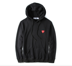 b6492cea5a8e Men s Comme Des Garcons CDG Play Hoodie red heart Sweater Play ...