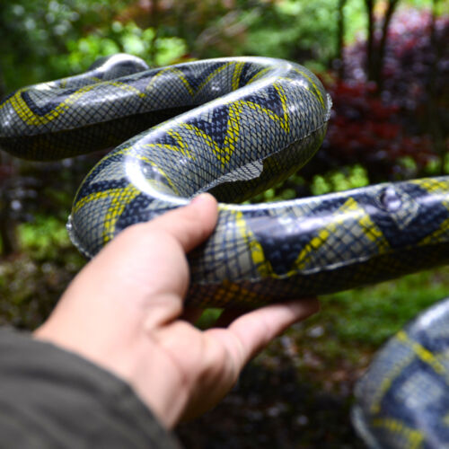 Inflatable Prop Wild Reptile Nature Education  Rubber Fake Snake Prank Prop Gag