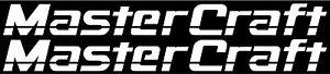 Pair of MasterCraft Trailer Decals Set #2