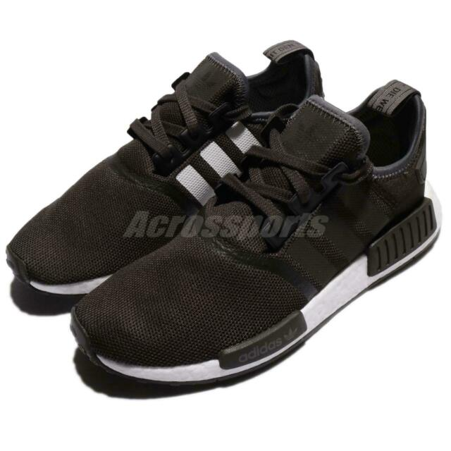 adidas Originals NMD_R1 Boost Brown Trace Grey Metallic Men Shoes Sneaker CQ2412