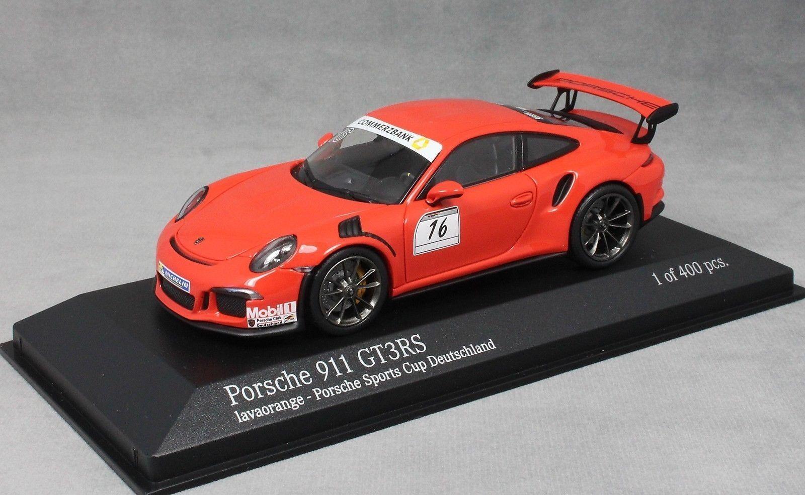 Minichamps Porsche 911 GT3RS Porsche Sports Cup Promo 2014 Lava Orange 413063253