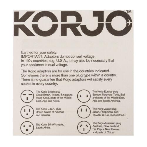 Korjo Multi Reverse Adapter Charger Adaptor Plug India//South Africa to Australia
