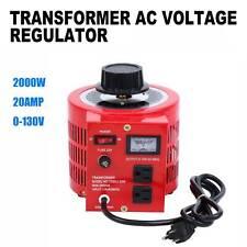 Ridgeyard Transformer Variable Ac Voltage Regulator Metered 20a 2000w 0 130v Ac