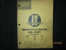 Minneapolis Moline Amp Avery Tractor A R V Bf Zt Shop Service Manual I Ampt 2a