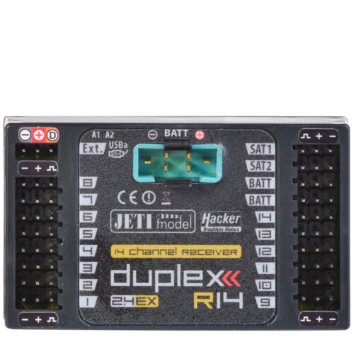 Duplex 2.4ex 14 canali ricevitore r14 2.4 GHz JETImodel JDEX-r14 80001208 820221