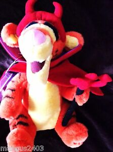 BNWT-VERY-RARE-LARGE-DISNEY-TIGGER-DRESSED-IN-HALLOWEEN-RED-DEVIL-COSTUME-OUTFIT