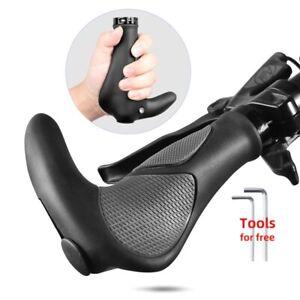 Poignees De Guidon Silicone pour VTT/BMX avec Empiecement Antidérapant Anti Choc