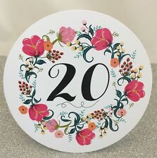 Flower Circle Wedding Table Number Cards 1-20