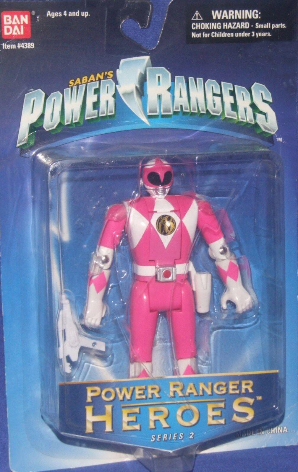 Mächtige morphin power rangers Rosa - neue helden 5  fabrik versiegelt, 1999