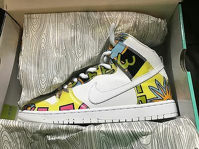 008e8a931972 Details about Men's Nike SB Dunk high top sneaker de la soul size 11.5 hip  hop air