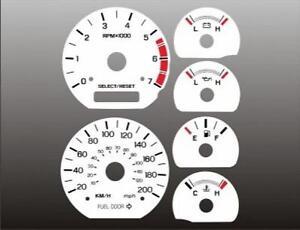 1999-2004-Ford-Mustang-METRIC-KMH-KPH-Dash-Cluster-White-Face-Gauges