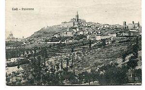 1921-Todi-Panorama-destinazione-Grosseto-Guller-Perugia-FP-B-N-VG