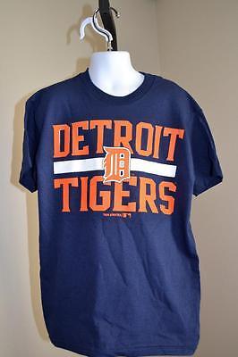 Marineblau T-shirt Gute WäRmeerhaltung m Mlb Detroit Tigers Youth Medium Neu Kleinere Fehler