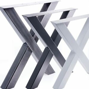 tischgestell tischuntergestell tischgestell x beine esstisch schreibtisch tisch ebay. Black Bedroom Furniture Sets. Home Design Ideas