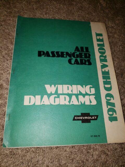 1979 Chevy Camaro Corvette Electrical Wiring Diagram Manual All Passenger Cars
