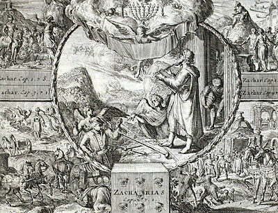 The Best Bibel Visionen Sacharja Anges Jacques Basnage Gravur Römisch Der Hooghe 1704 Antiquitäten & Kunst
