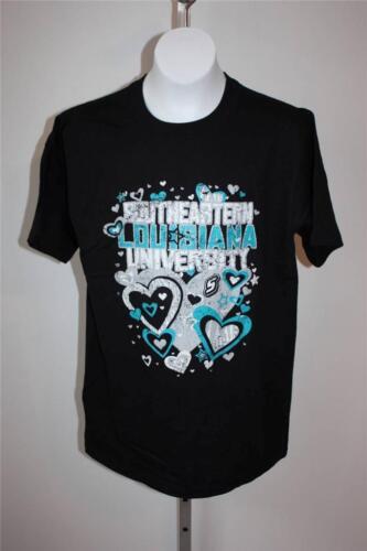 NEW SOUTHEASTERN LOUISIANA UNIVERSITY Womens Medium M Cute Black T-Shirt 29JP