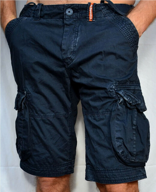 SUPERDRY Men's - NEW CORE LITE - Military Cargo Shorts - Night Navy Blue