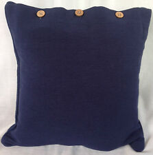 Navy Blue Cushion Cover Nautical Scatter Throw Decor Pillow Case Sofa Day Bed